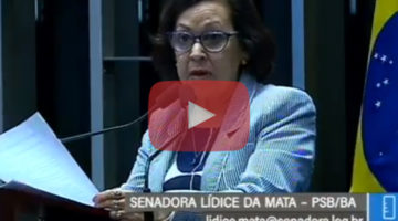 Senadora Lídice fala sobre aumento da violência no país
