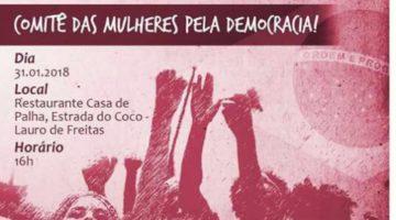 Lídice, Moema e Alice lançam movimento de mulheres em defesa da democracia.