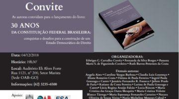 Pesquisadoras de Goiás lançam obra sobre os 30 anos da Constituição Cidadã