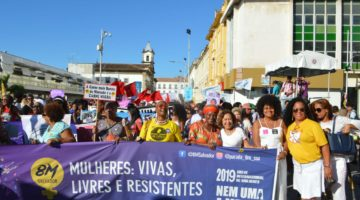 """""""Não vamos aceitar a redução de espaço das mulheres na política"""", disse Lídice em manifestação"""