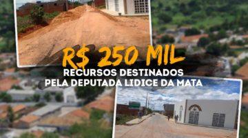 Emenda da deputada Lídice garante pavimentação de ruas em Oliveira dos Brejinhos