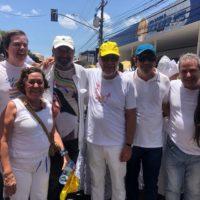 """""""O carinho do povo renova as energias"""", diz Lídice após desfile no Bonfim"""