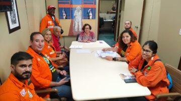 Lídice recebe representantes da FUP e se engaja na defesa dos trabalhadores da Petrobrás