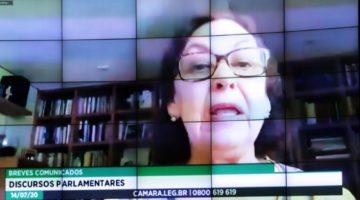 Lídice trata de suspensão de consignados, ECA e homenagem a Anísio Teixeira em discurso