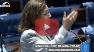 Lídice comenta defesa à Constituição e presunção de inocência