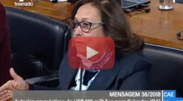 Lídice comenta aprovação de empréstimo de US$ 125 milhões para Salvador
