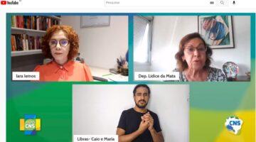 Lídice defende fortalecimento do SUS em conversa com o Conselho Nacional de Saúde